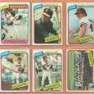 1980 Topps San Francisco Giants Team Lot 23 diff Willie McCovey Jack Clark Darrell Evans Team Card