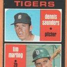 DETROIT TIGERS ROOKIE STARS DENNIS SAUNDERS TIM MARTING 1971 TOPPS # 423 EM/NM