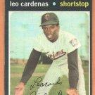 MINNESOTA TWINS LEO CARDENAS 1971 TOPPS # 405 EX