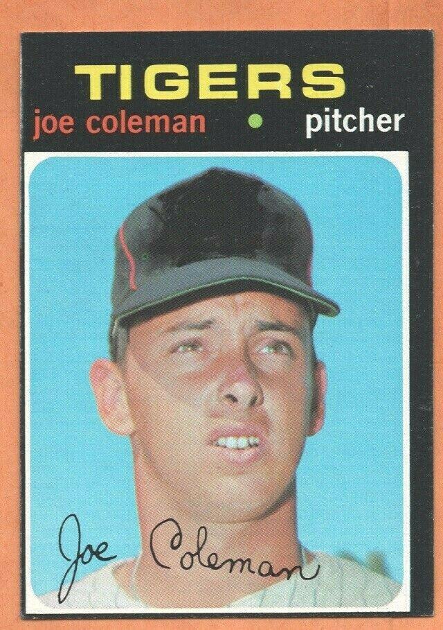 DETROIT TIGERS JOE COLEMAN 1971 TOPPS # 403 EM/NM OC