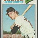 San Francisco Giants Johnnie LeMaster 1977 Topps Baseball Card 151 nr mt