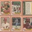 1981 Fleer Philadelphia Phillies Team Lot 31 diff Pete Rose Mike Schmidt Steve Carlton