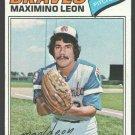 Atlanta Braves Maximino Leon 1977 Topps Baseball Card #213 ex/nm