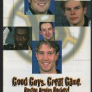 BOSTON BRUINS JOE THORNTON 1999-00 SCHEDULE GOOD GUYS GREAT GAME CARTER SAMSONOV HAL GILL ALLISON