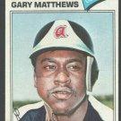 Atlanta Braves Gary Matthews 1977 Topps Baseball 194 ex/em