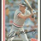 Cleveland Indians Rick Manning 1982 Topps Baseball Card 202 nr mt
