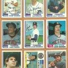 1982 Topps Detroit Tigers Team Lot 32 Jack Morris Lance Parrish Alan Trammell Lou Whitaker Hebner
