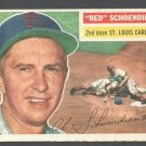 St Louis Cardinals Red Schoendienst 1956 Topps #165