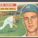 New York Yankees Bob Grim 1956 Topps # 52 Ex