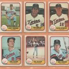 1981 Fleer Minnesota Twins Team Lot 21 Diff Jerry Koosman Roy Smalley Butch Wynegar +