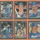 1985 1986 Donruss Atlanta Braves Team Lot 21 diff Dale Murphy Steve Bedrosian Gerald Perry Sutter