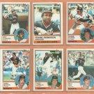 1983 Topps San Francisco Giants Team Lot  16 Frank Robinson Jeff Leonard Duane Kuiper