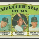 Carlton Fisk Cecil Cooper Rookie Card 1972 Topps #79 Boston Red Sox Milwaukee Brewers