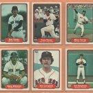 1982 Fleer Boston Red Sox Team Lot 14 diff Tony Perez Bob Ojeda RC Mike Torrez