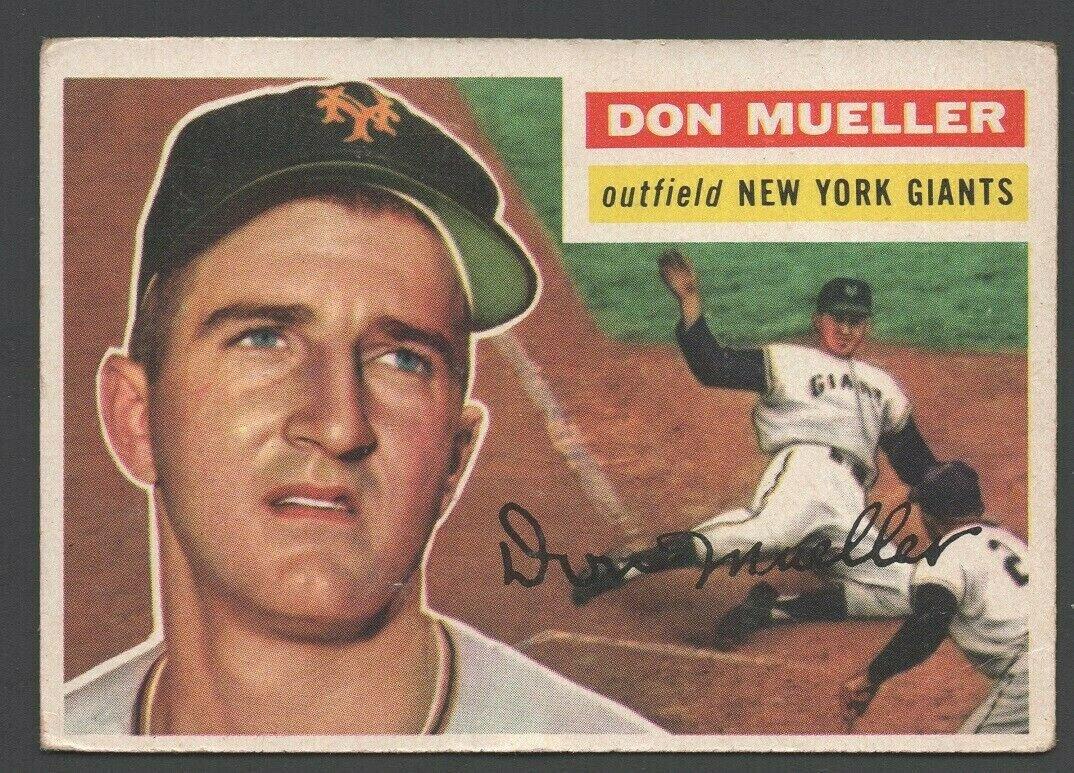 New York Giants Don Mueller 1956 Topps # 241