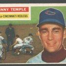 Cincinnati Redlegs Johnny Temple 1956 Topps # 212