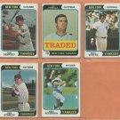 1974 Topps New York Yankees Team Lot 13 diff Lou Piniella Roy White Rick Dempsey