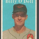Baltimore Orioles Billy O' Dell 1958 Topps # 84