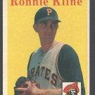 Pittsburgh Pirates Ronnie Kline 1958 Topps  #82