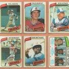 1980 Topps Atlanta Braves Team Lot 23 diff Dale Murphy Phil Niekro Bob Horner Gary Matthews
