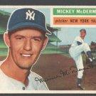 New York Yankees Mickey McDermott 1956 Topps # 340