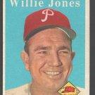 Philadelphia Phillies Willie Jones 1958 Topps # 181