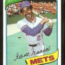 New York Mets Elliott Maddox 1980 Topps Baseball Card # 707 Nr Mt
