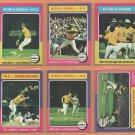 1975 Topps Oakland Athletics Team Lot 20 Reggie Jackson Rollie Fingers Catfish Hunter Billy Williams