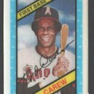 California Angels Rod Carew 1980 Kelloggs 3D Super Stars  #60