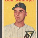 Chicago White Sox Don Rudolph 1958 Topps # 347