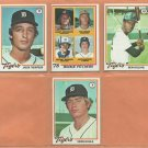 1977 1978 Topps Detroit Tigers Team Lot 13 diff Jack Morris RC Bill Freehan Ben Oglivie