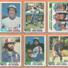 1982 Topps Montreal Expos Team Lot 21 Andre Dawson Gary Carter Terry Francona RC Larry Parrish