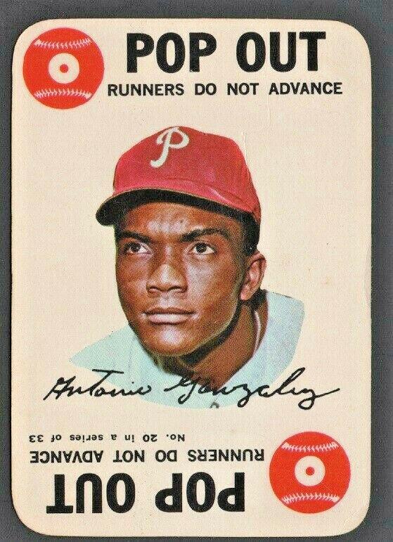 Philadelphia Phillies Tony Gonzalez 1968 Topps Game Card # 20