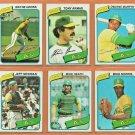 1980 Topps Oakland Athletics Team Lot 23 Tony Armas Mike Heath Dwayne Murphy Mike Norris Wayne Gross