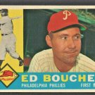 1960 Topps Baseball Card # 347 Philadelphia Phillies Ed Bouchee