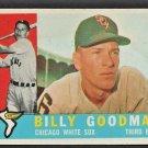 1960 Topps Baseball Card # 69 Chicago White Sox Billy Goodman