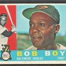 1960 Topps Baseball Card # 207 Baltimore Orioles Bob Boyd