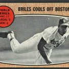 ST LOUIS CARDINALS NELSON BRILES COOLS OFF BOSTON 1968 TOPPS # 153 good
