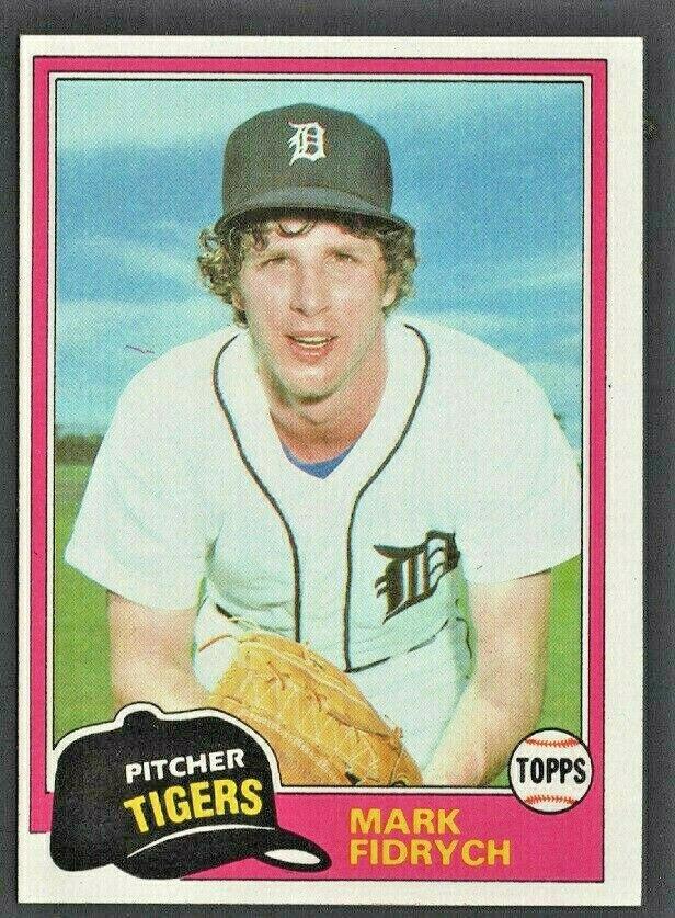Detroit Tigers Mark Fidrych 1981 Topps Baseball Card # 150 nr mt