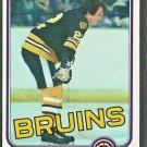 Boston Bruins Brad Park 1981 Topps Hockey Card 72 nr mt