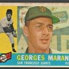 1960 Topps Baseball Card # 479 San Francisco Giants Georges Maranda