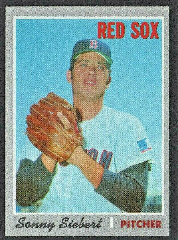 BOSTON RED SOX SONNY SIEBERT 1970 TOPPS # 597 NR MT