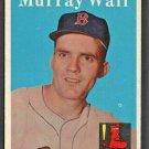BOSTON RED SOX MURRAY WALL 1958 TOPPS # 410