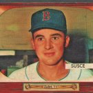 BOSTON RED SOX GEORGE SUSCE 1955 BOWMAN # 320 VG/EX