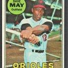 Baltimore Orioles Dave May 1969 Topps Baseball Card #113