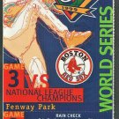 BOSTON RED SOX FENWAY PARK 1999 WORLD SERIES FULL TICKET