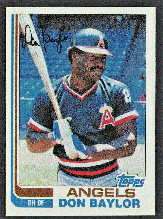 California Angels Don Baylor 1982 Topps Baseball Card 415 nr mt