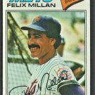 New York Mets Felix Millan 1977 Topps Baseball Card # 605