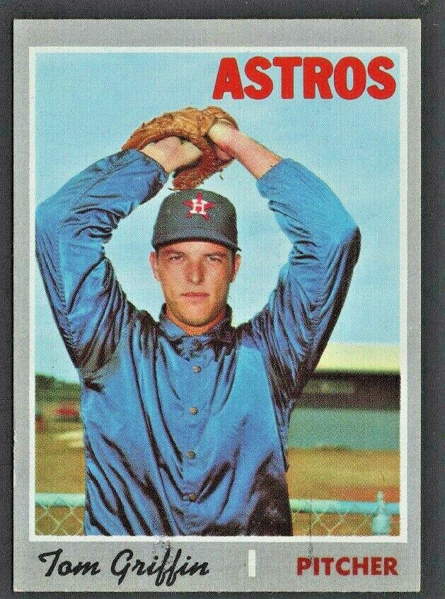 HOUSTON ASTROS TOM GRIFFIN 1970 TOPPS # 578
