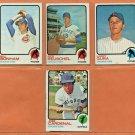 1973 Topps Chicago Cubs Team Lot 8 diff Rick Reuschel RC Larry Gura Bill Bonham